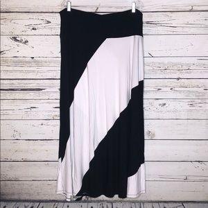 Lane Bryant 18/20 Colorblock Knit Maxi Skirt